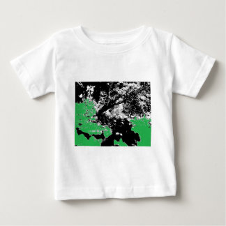 Green Reflection with Tree Baby T-Shirt