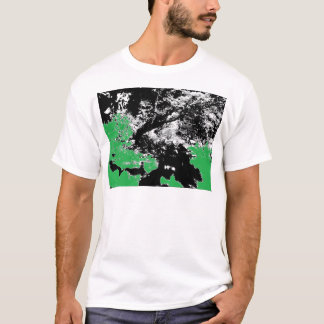Green Reflection with Tree T-Shirt