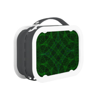 Green Refraction Geometric Pattern Lunch Box