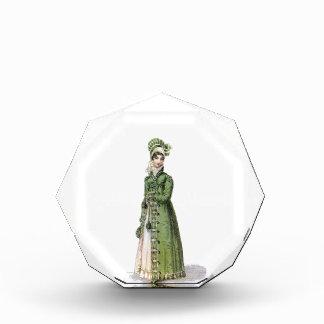 Green Regency Lady Acrylic Award