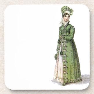 Green Regency Lady Beverage Coaster