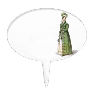 Green Regency Lady Cake Topper