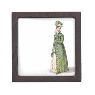 Green Regency Lady Jewelry Box