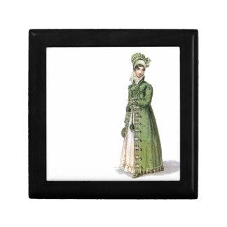 Green Regency Lady Keepsake Box