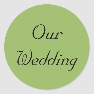 Green Regency Our Wedding Stickers
