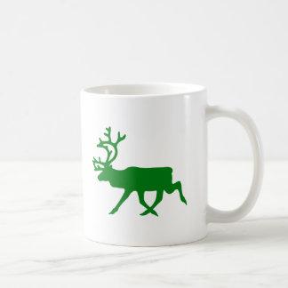 Green Reindeer Mug
