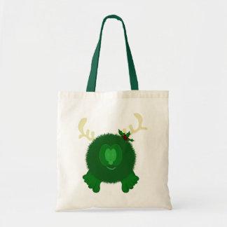 Green Reindeer Pom Pom Pal Bag