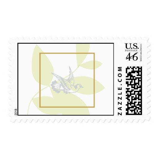 Green Religious Postage Stamp
