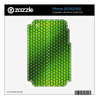 Green Reptile Decal For iPhone 2G