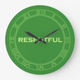 Green Resentful Large Clock