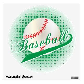 Green Retro Baseball Style Wall Sticker