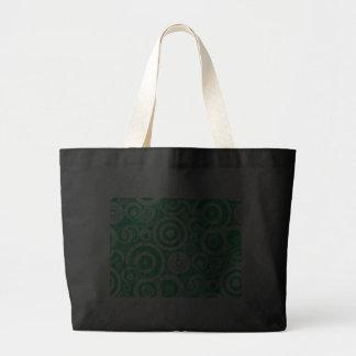 green_retro_circles canvas bag