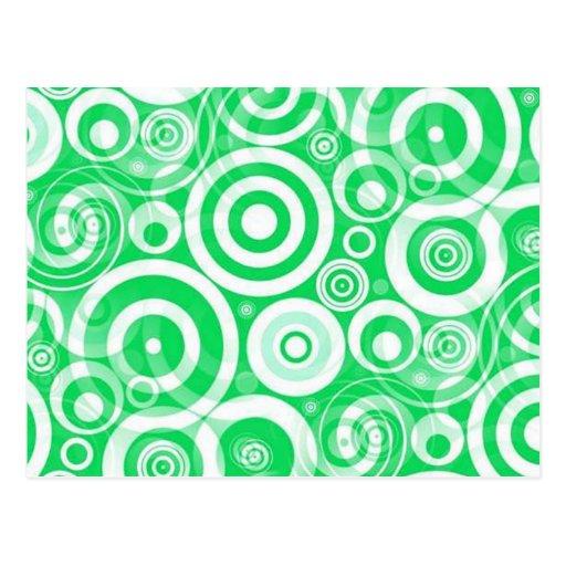green_retro_circles tarjetas postales