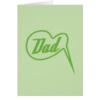 green retro dad speech bubble card