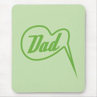 green retro dad speech bubble mousepad