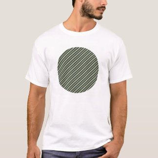 Green Retro Diagonal Stripes T-Shirt