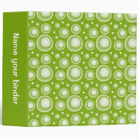 Green Retro Dots 2 inch Designer Binder