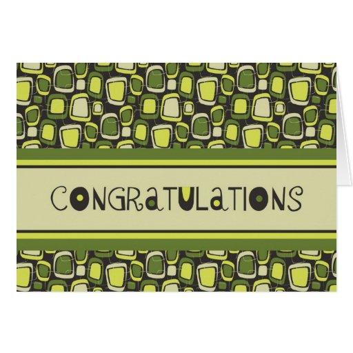 Green Retro Employee Anniversary Card