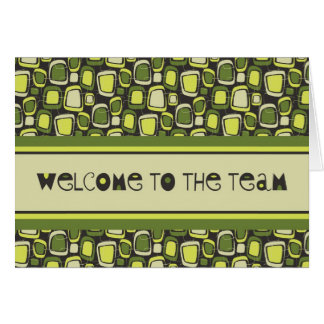 Green Retro Employee Welcome Card