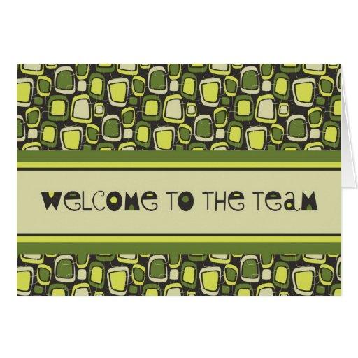 Green Retro Employee Welcome Card