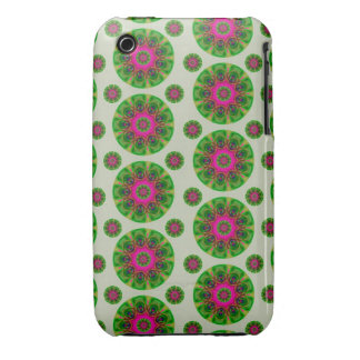 Green Retro Mandala Pattern iPhone 3 Covers