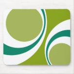 green retro mouse mats