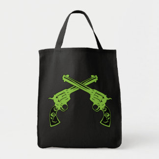 Green Retro Pistols Tote Bag