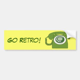 Green Retro Style Dial Telephone - Go Retro! Bumper Sticker