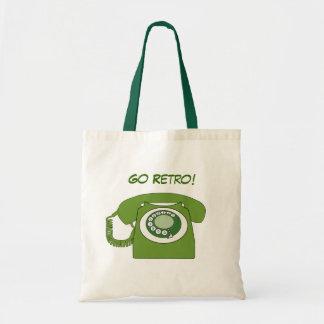 Green Retro Style Dial Telephone - Go Retro! Tote Bag