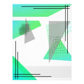 Green Retro Triangles Transparent  Event Flyer