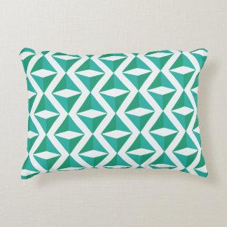 Green Rhombus Pattern Accent Pillow