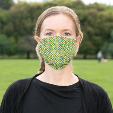 Green Rhombuses Cloth Face Mask