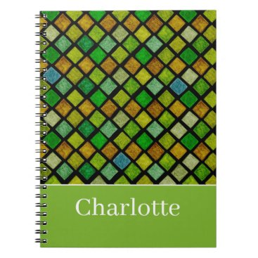 Green Rhombuses Notebook