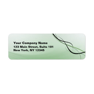 Green Ribbon Address Label