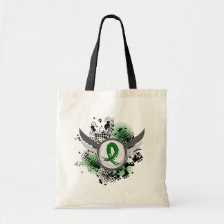 Green Ribbon And Wings Cerebral Palsy Budget Tote Bag