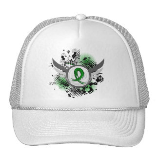Green Ribbon And Wings Cerebral Palsy Trucker Hat