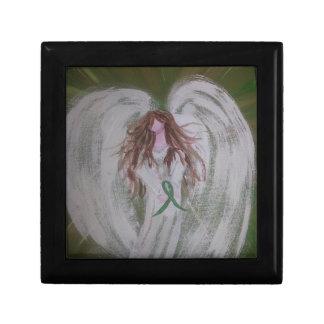 Green Ribbon Angel.jpg Keepsake Box