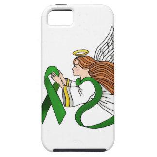 """Green Ribbon"" Awareness Angel iPhone SE/5/5s Case"