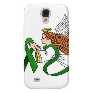 """Green Ribbon"" Awareness Angel Samsung Galaxy S4 Cover"