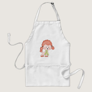 Green Ribbon Awareness Poodle Adult Apron