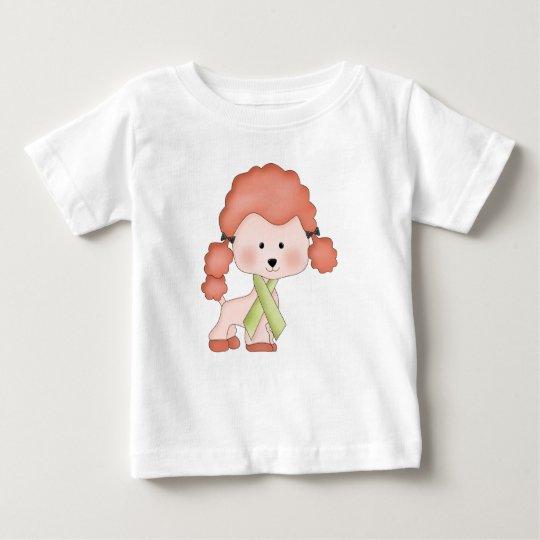 Green Ribbon Awareness Poodle Baby T-Shirt