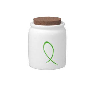 Green Ribbon Candy Jar