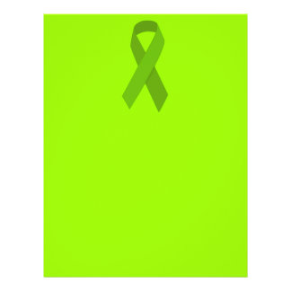 GREEN RIBBON CAUSES MEDICAL ILLNESSES CARING MOTIV PERSONALIZED FLYER
