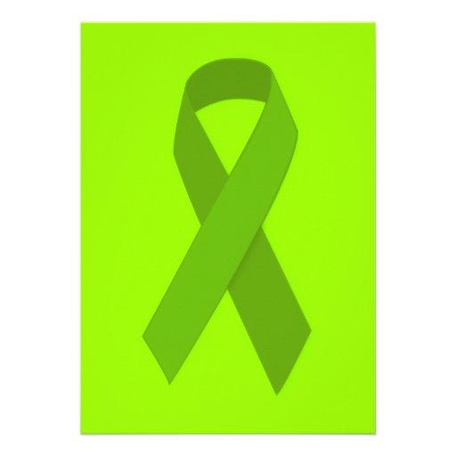 GREEN RIBBON CAUSES MEDICAL ILLNESSES CARING MOTIV CARD