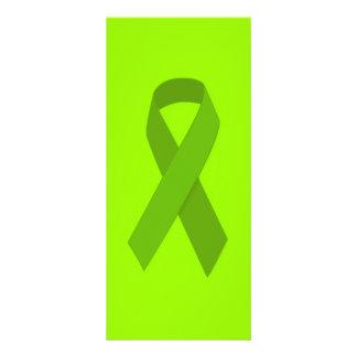 GREEN RIBBON CAUSES MEDICAL ILLNESSES CARING MOTIV RACK CARD