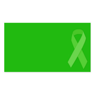GREEN RIBBON CAUSES Organ & Tissue Donors, Mental Business Card