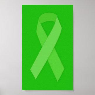 GREEN RIBBON CAUSES Organ & Tissue Donors, Mental Poster