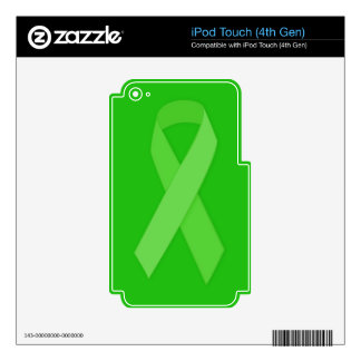 GREEN RIBBON CAUSES Organ & Tissue Donors, Mental Decals For iPod Touch 4G