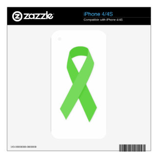 GREEN RIBBON CAUSES Organ & Tissue Donors, Mental Skin For The iPhone 4