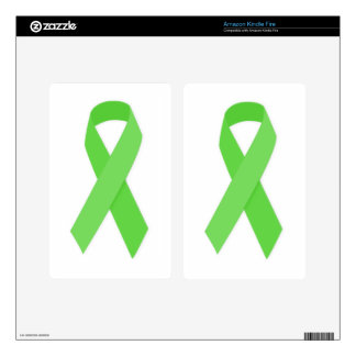 GREEN RIBBON CAUSES Organ & Tissue Donors, Mental Kindle Fire Decals